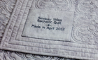 5D™ QuiltDesign Creator: Creating Embroidered Quilt Labels